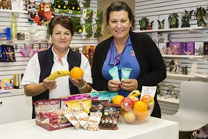 Photograph of staff promoting Healthy Options
