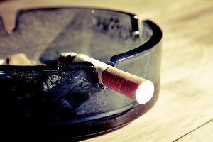 Photograph of a cigarette
