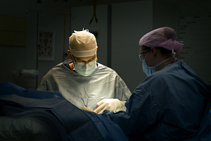 Photograph from operating theatre
